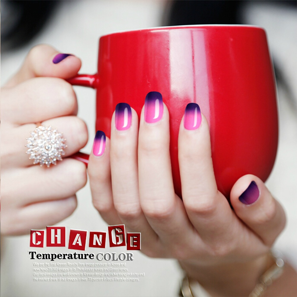 Yao Shun Chameleon Temperature Change Nail Color UV Gel Polish 8ml ...