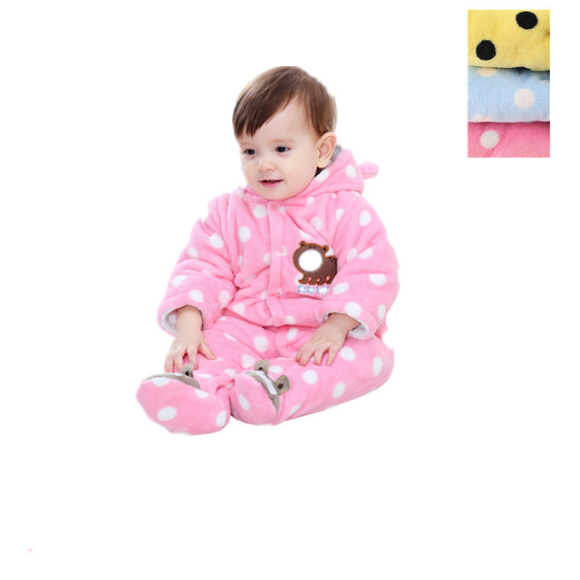 c2c20ea2676 (KID STATION) baby boy girls rompers Baby Winter clothes newborn baby  Cartoon Jumpsuit Girl Clothing Set Baby Roupas