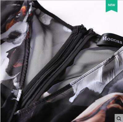 Ropa Moda Alta Sexy Verano Masajeadores Pic Imperio Mediados As De Y Del V Transparente Calidad Mujer Vestido Patrón Cuello Primavera OO8q5rx