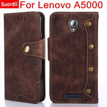 For Lenovo a5000 A5000  Flip Leather Cover 5.0 inch Vertical Magnetic Wallet Case For Lenovo A 5000 Phone Bag With Kickstand