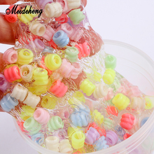 Meideheng Plastic Colorful Beads Relax Slime Crystal Mud Filler Big Hole DIY Toys Accessories For Kids Beads For Jewelry Making meideheng acrylic circle beads transparent electroplating slime crystal mud filler ornament accessories for hair ring needlework