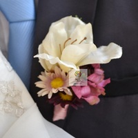Corsage Decoration Bridesmaid Wedding Groom Groomsman Boutonnieres Roses Pin Brooch Artificial Mix Match Colors Lily