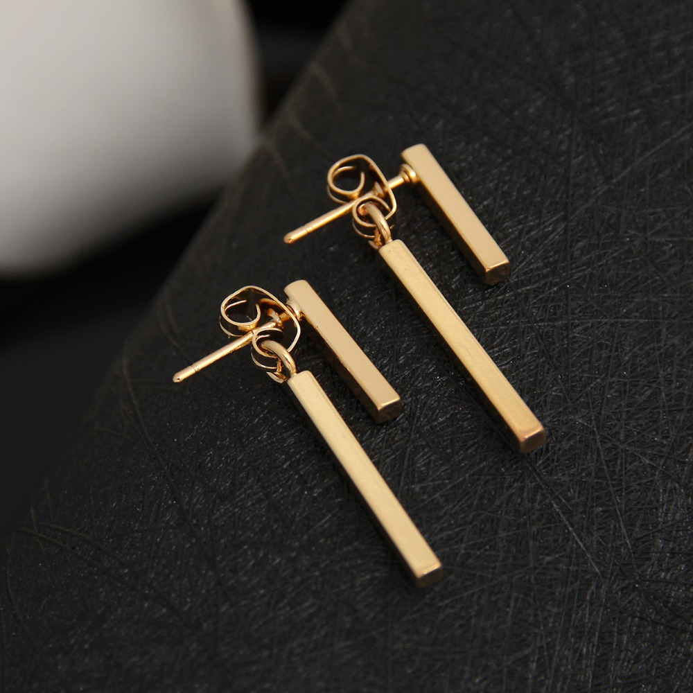 Shuangshuo 2017 Personalized New Fashion Earrings Brinco Simple T Bar Stud Earrings Jewelry for Women Korean Mariage Gifts