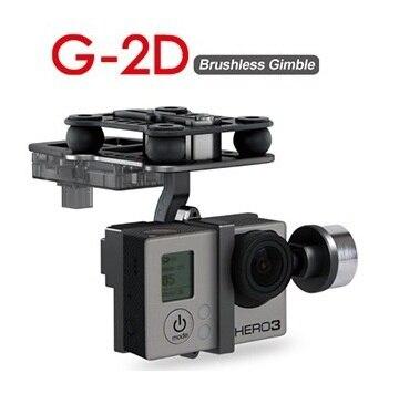 Cardan sans brosse en alliage daluminium dorigine Walkera G 2D pour caméra iLook / Gopro Hero 3 / Sony pour QR X350 PTZ