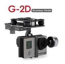Original walkera G 2D liga de alumínio sem escova cardan para ibook/gopro hero 3/sony câmera para qr x350 ptz