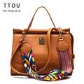 TTOU Colorful Strap Women Totes Bag 2017 Fashion Office Lady Top-handle Bag Women Shoulder Bag Brand Handbag