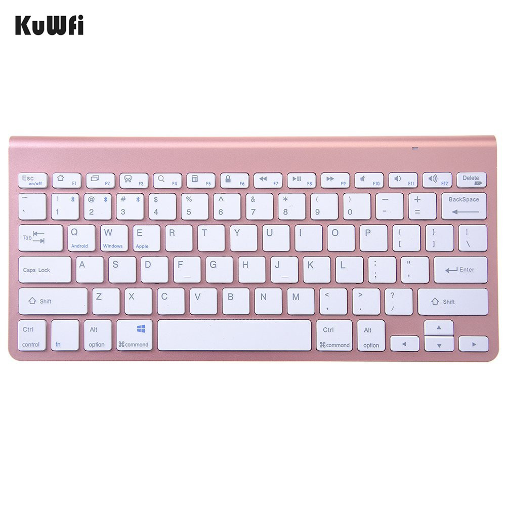 KuWFi Wireless Keyboard Bluetooth 3.0 URCO Ultra slim Portable Multimedia For Apple iPad MacBook Android Phone PC Tablet