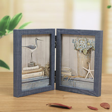 1PC 360 Degree Foldable Desktop Picture Frame, Creative Gift For Friend Home Decoration Photo Frame, Vintage Wood Photo Frames(China)