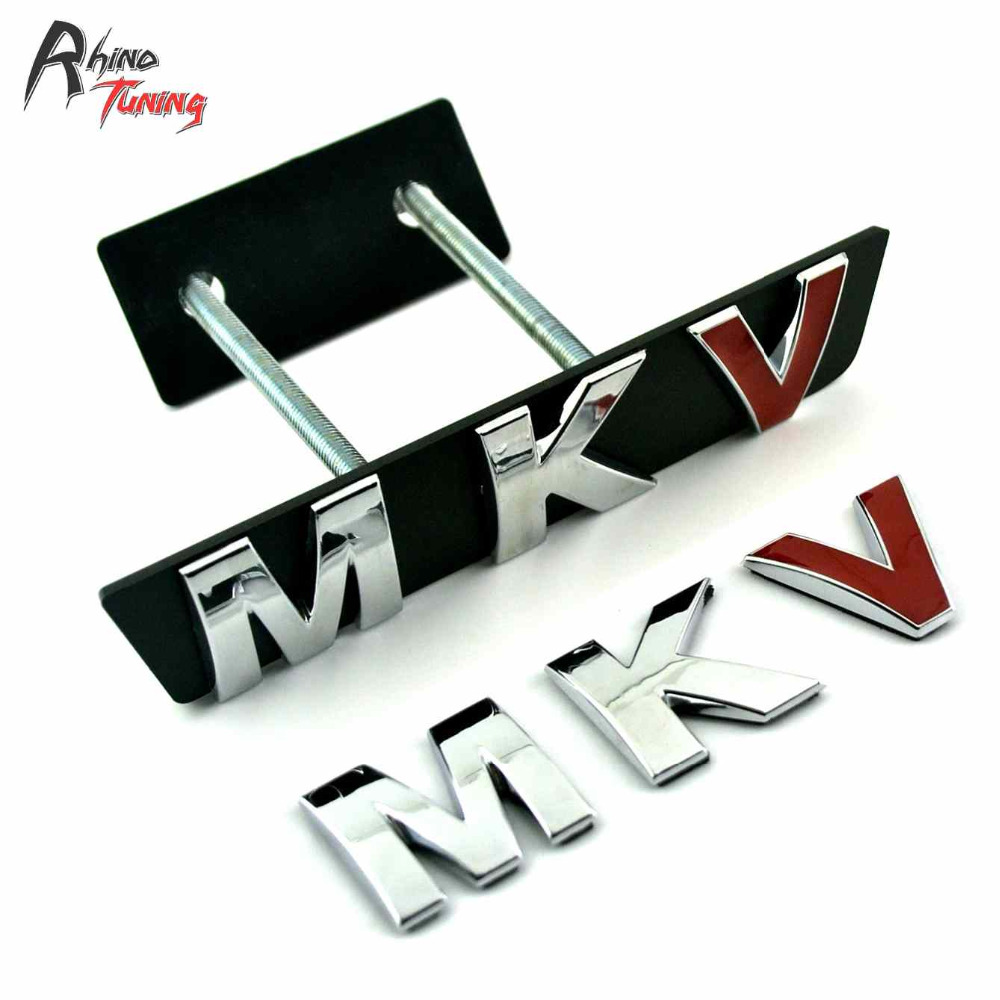 Rhino Tuning MKV Auto Styling Front Grille Grill Badge MK Series Sticker For Jetta Golf MK5 MKV Bora Vento Car Emblem 778 metal red st front grille sticker car head grill emblem badge chrome sticker for ford fiesta focus mondeo auto car styling