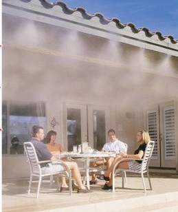 Garden Watering System >> Pump outdoor mist cooling system with brass mist nozzle ...