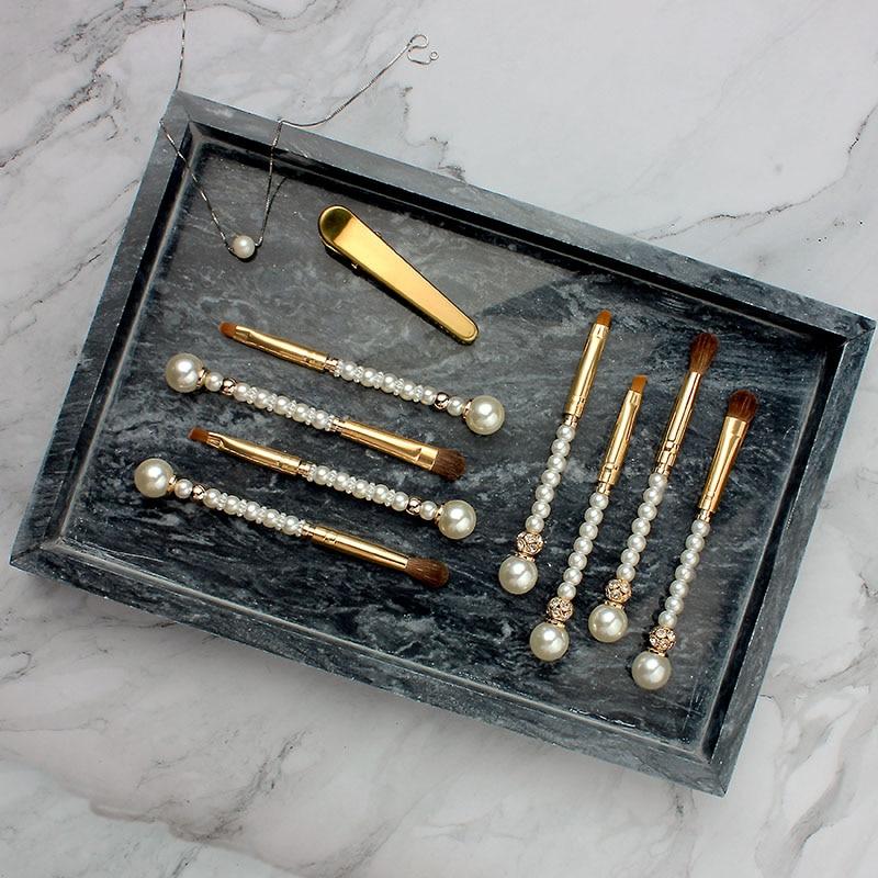 Makeup Brushes Pearl Crystal Rhinestone Gold 12PC Make Up Brushes Kit Professional Makeup Brush Set Pincel Maquiagem Beauty Tool