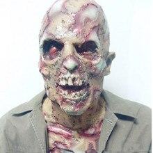 X-Веселая игрушка Бесплатная доставка Хэллоуин Взрослый Зомби Маска латекс кровавый страшно отвратительно полный Уход за кожей лица Маска Костюм партии Косплэй опора