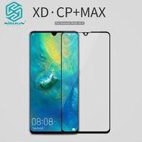 Huawei Mate 20 X Tempered Glass Nillkin XD CP + MAX Chống Lóa An Toàn Bảo Vệ Bảo Vệ Màn Hình Glass Cho Huawei người bạn đời 20 X