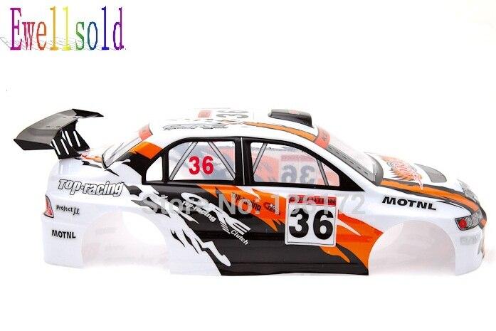 Ewellsold 1/10 RC racing car  PVC painted Body Shell 200mm 030B white 2pcs/lot free shipping  190mm pvc painted 1 10 body shell for 1 10 1 10 rc car item no 47 white red 2pcs lot free shipping