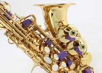 MARGEWATE бемоль небольшой изогнутый сопрано саксофон золотой лак трубы ветер Джаз Музыкальный инструмент саксофон