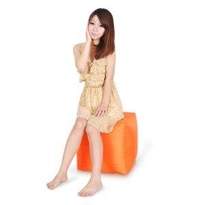 Image 4 - Plus haute qualité Cube pouf housse de canapé chaises étanche siège salon chaise de jeu siège pouf (le remplissage nest pas inclus)