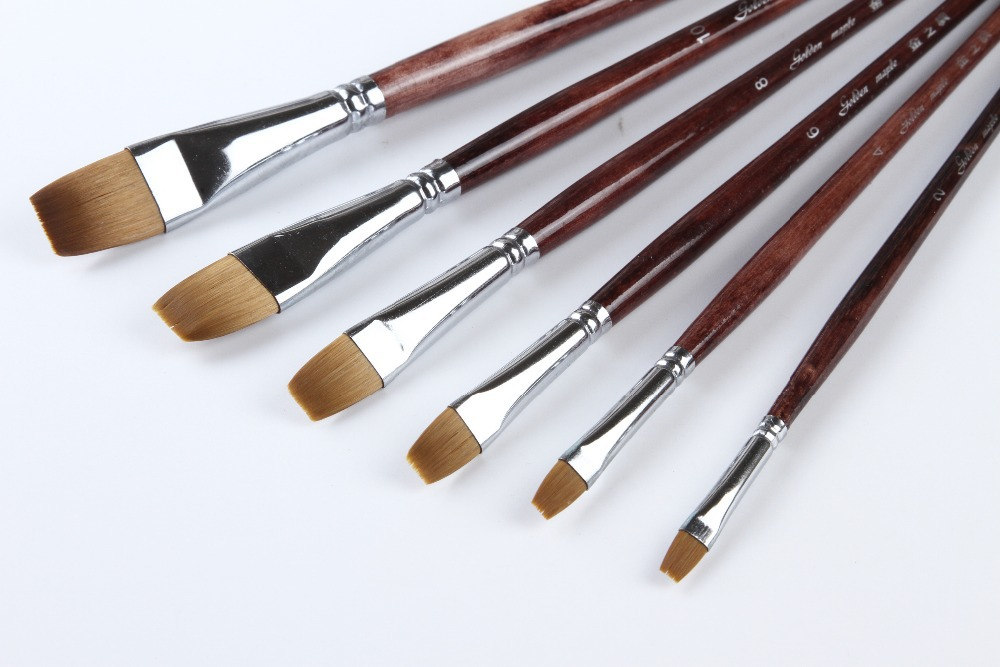 high quality bristle paint brushes birch handle,economical paint brush art chinese brush,free shipping glaser d36440 00 glaser