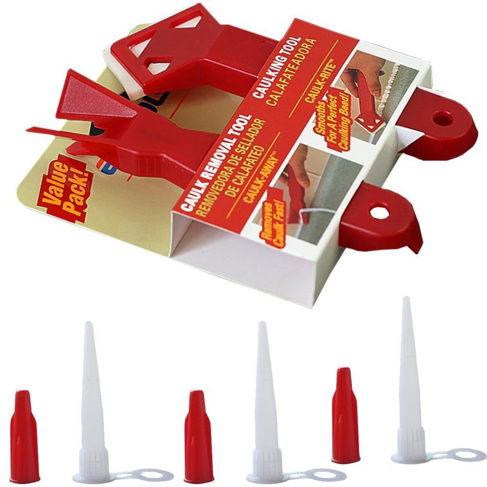 Free Shipping 5 Sets Per Order Economy Caulking Removal Tool&Caulking Tool And Standard EU 3 Cartridge Sealant Nozzle