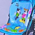 100% Cotton Baby Stroller Mat Car Seat Mickey Minnie Seat Cushion for Stroller Newborn Chair Pad Winter Stroller Accessories