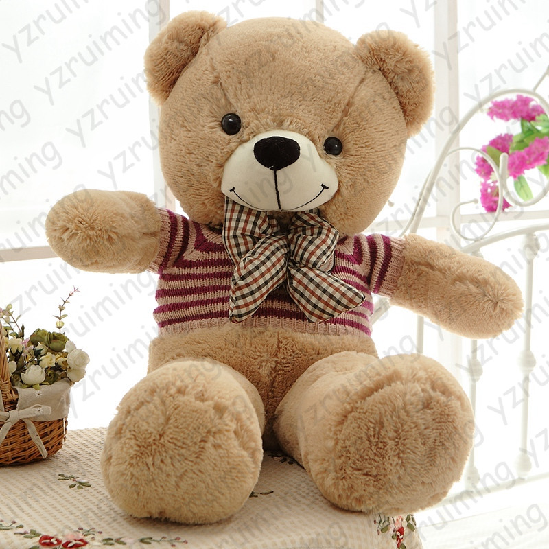 1 piece high quality low price stuffed plush toys large size 100cm teddy bear 1m big bear doll. Black Bedroom Furniture Sets. Home Design Ideas