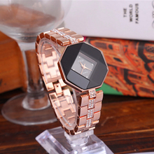2019 Fashion Exquisition Diamond-studded Steel Casual Diamond-shaped Women Luxury Brand Crystal Watch Waterproof Quartz Clock