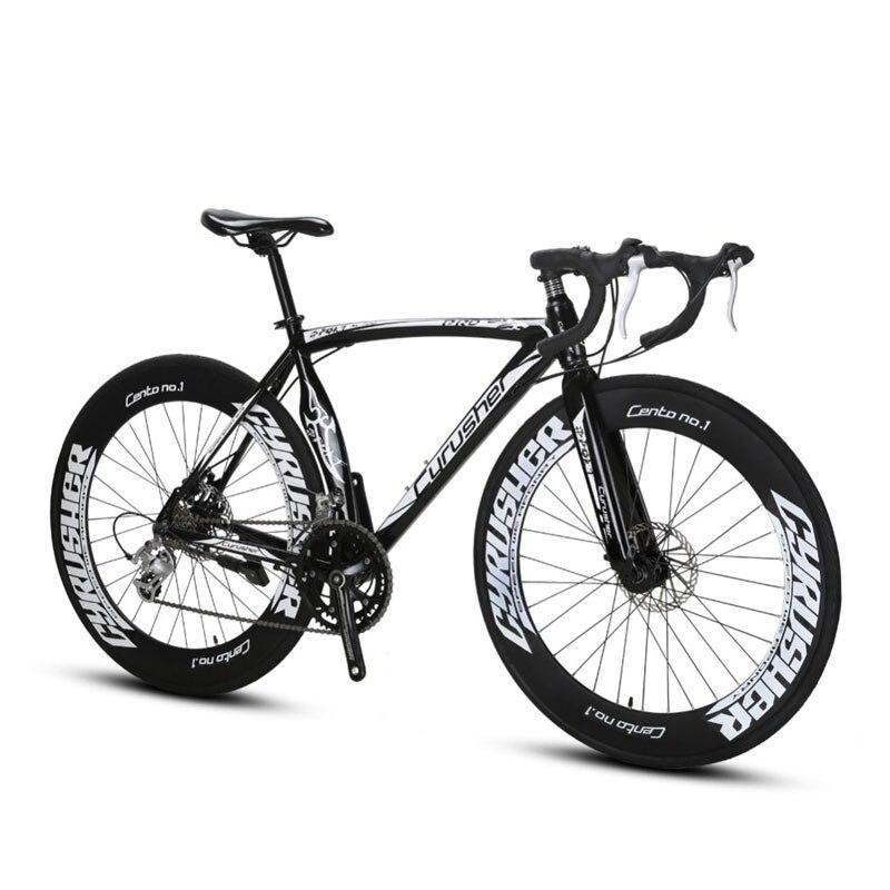 Cyrusher XC700 Sports Racing Road Bike 16 Speeds 700C 54/56CM Light Aluminum Frame Pro Mens Road Bicycle Mechanical Disc Brakes cyrusher am xf200 black red mans mountain bike shiman0 alivio m4000 27 speeds xcr fork bb5 disc brakes