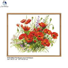 Joy Sunday H773 Flower Style 14CT 11CT Counted and Stamped Home Decoration The Flowers are in Full Bloom Cross Stitch Kits