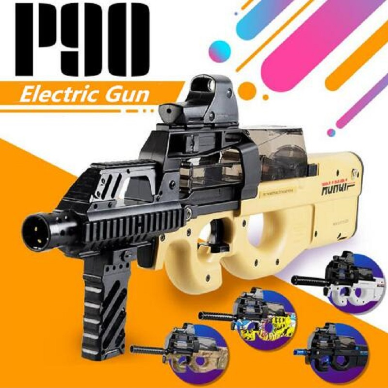 P90 Electric Toy Gun Graffiti Edition Live CS Assault Snipe Weapon Water Bullet Bursts Gun Funny Outdoor Pistol Toys цена