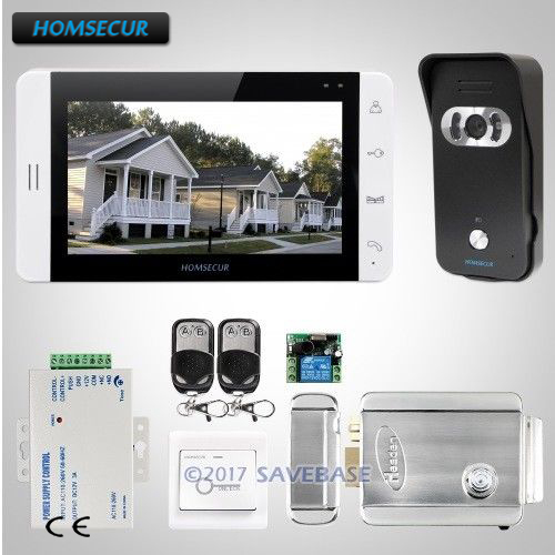 HOMSECUR 7 Wired Video Door Entry Phone Call System+Black Camera+Shipping from Russia homsecur 9inch wired video door entry phone call system black camera for apartment