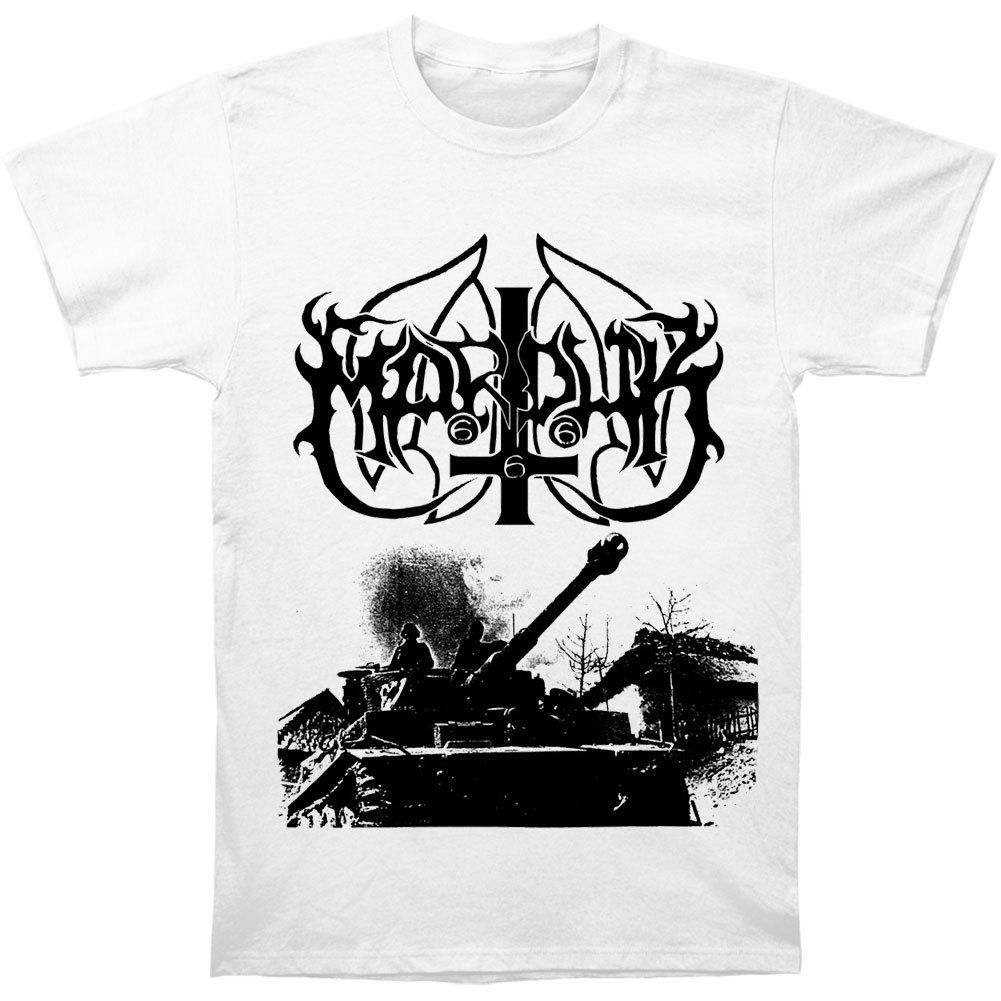 Marduk Mens Panzer/White T-shirt Medium White 2018 Summer New Brand T Shirt Men Hip Hop Men T-Shirt Casual Fitness Top Tee