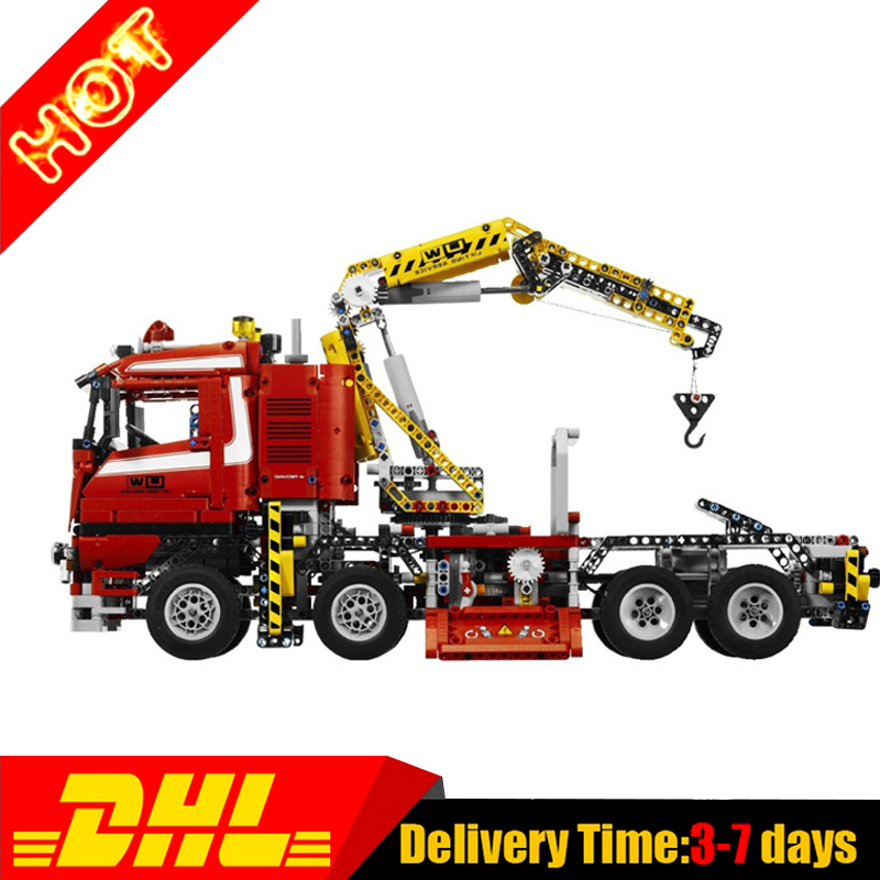 In Stock LEPIN 20013 technic series 1877pcs The Electric Crane Truck Model Building blocks Bricks Compatible 8258 Toys Gifts цена и фото