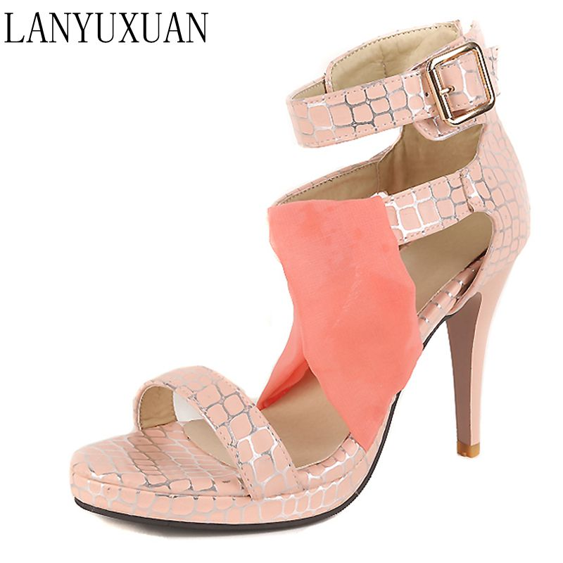 2017 Hot Sale Summer Sexy Fashion  Big Size 34- 43 Sandals Ladies Lady Shoes High Heel Women Party Super Pumps 9392 armoire summer hot sales women sandals red black beige blue ladies sexy high heel shoes cross tied ahs 2 plus big size 31 43