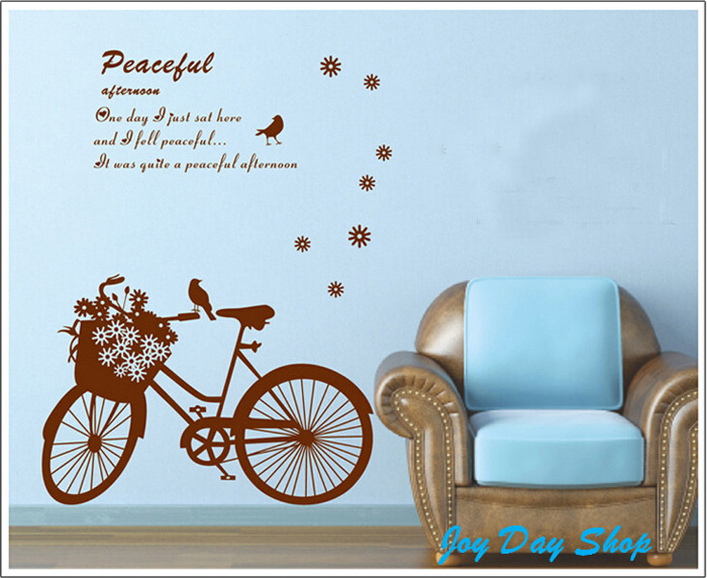 bedroom set wall wallpaper baby nursery wall stickers bicycle