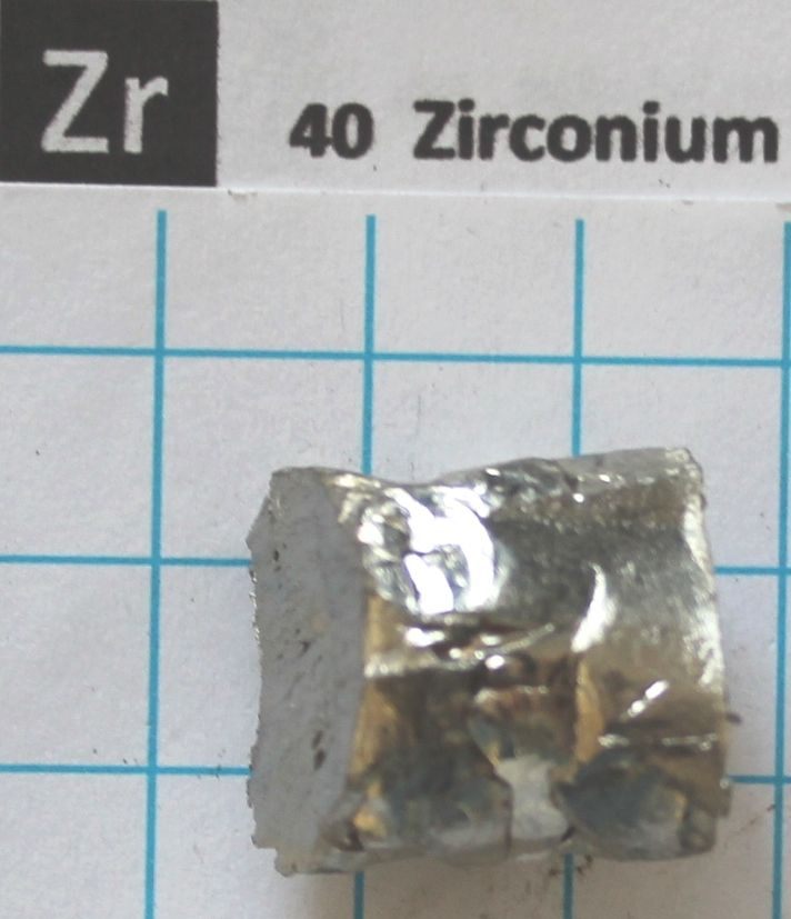 ~ 5g Zirconium Metal Transition metal 99.9% - Element 40 sample transition metal complexes of thiosemicarbazone