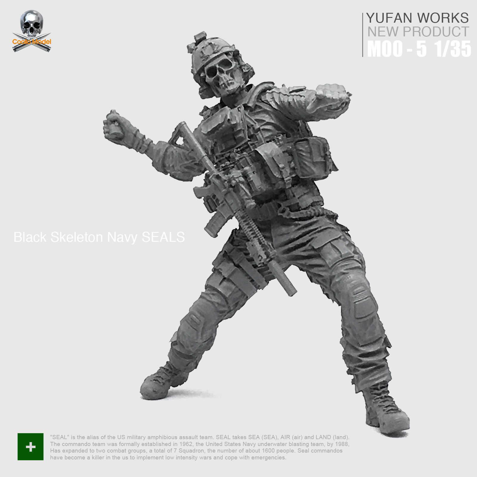 Unpainted 1//35 Modern Soldier National Army Resin Figure Model Kit Unassembled