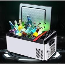 Refrigerador Mini portátil para coche, 12V/24V, compresor de refrigeración, refrigerador automático