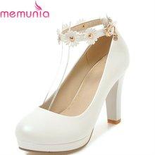 388f011cb MEMUNIA bombas mulheres sapatos de salto alto primavera outono sapatos  único dedo do pé redondo doce