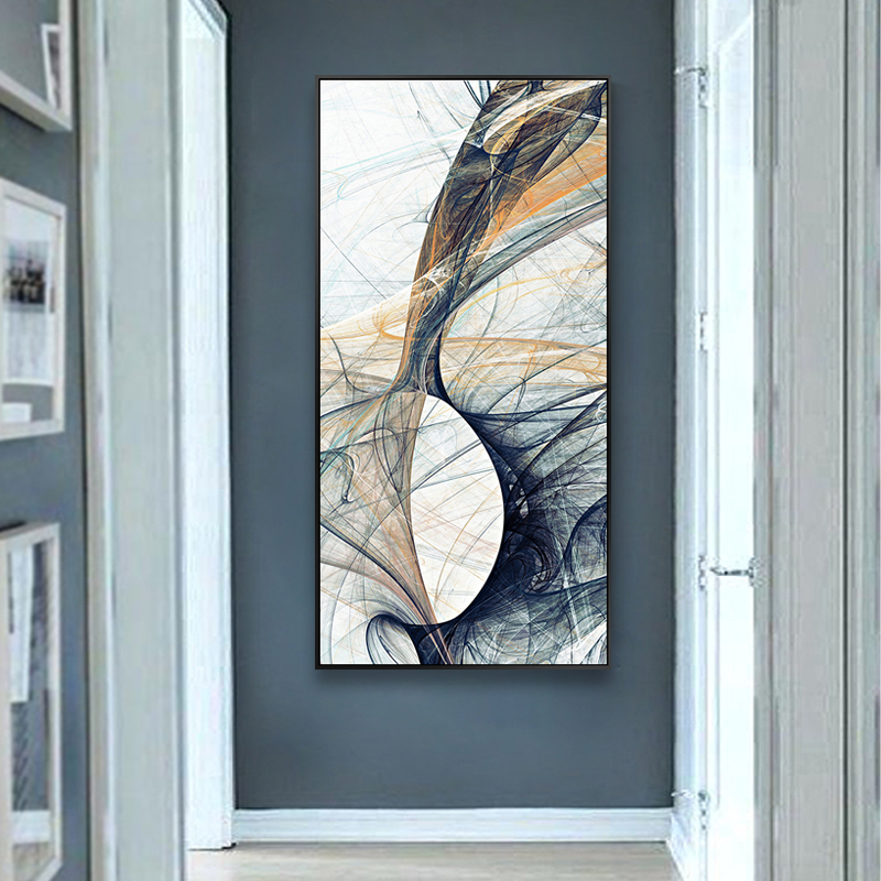 EECAMAIL 5D Art Abstract Diamond Painting Full Drill Simple Modern Living Room Hallway Entrance Vertical Version