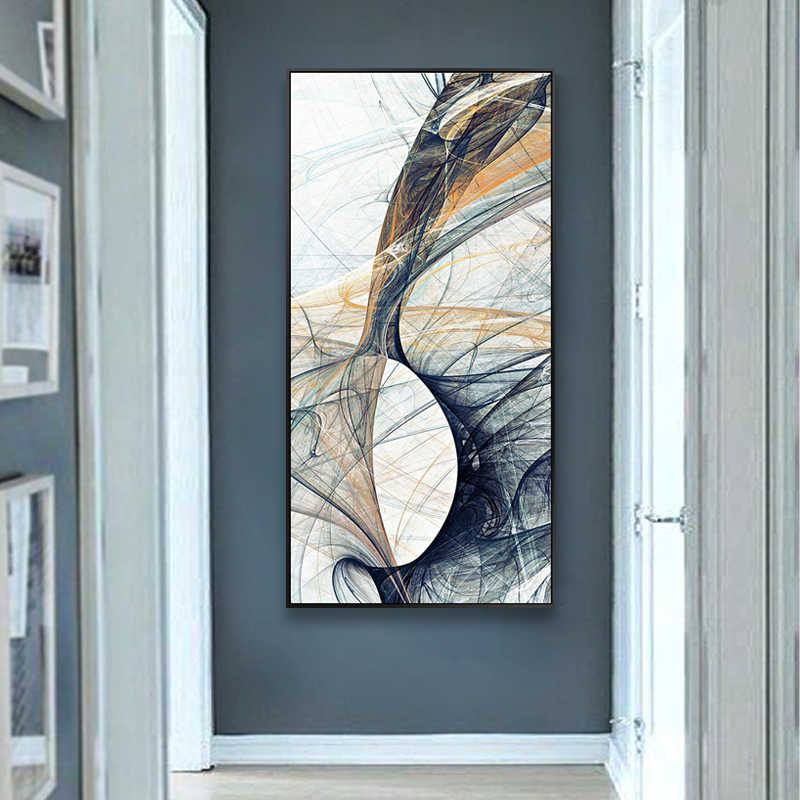 EECAMAIL 5D Art Abstract Diamond Painting Full Drill Simple Modern Living Room Hallway Entrance Vertical Version 2018 New