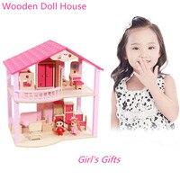 Миниатюрный Кукольный домик игрушечная мебель для детей Рождество подарки на день рождения ролевые игры игрушечная мебель s деревянный кук