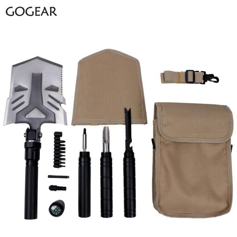 Survival Multifunctional Folding Shovel High Quality garden planting tools Sappers Shovel Camping trowel Outdoor Tactical Shovel stainless steel garden tools flower gardening shovel outdoor tip flat head