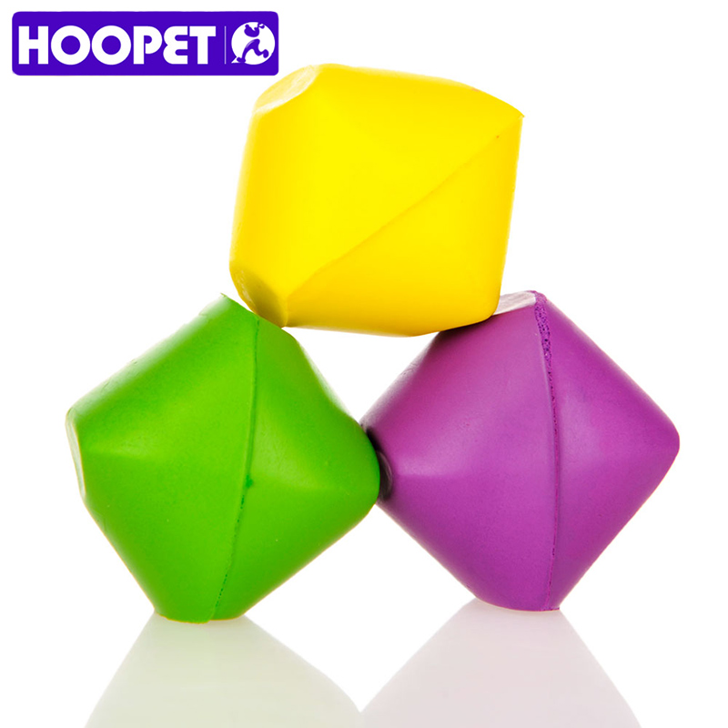HOOPET Pet Cat Toy Toys 3 Loaded Dice Soft Plastic Material Educational Toys Funny Cat Yellow&Green&Purple 3colors