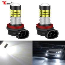Katur 2pcs H8 H11 Led Fog Lights 360 Degree 3014 Chips LED Driving Car Fog font