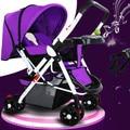 Детская коляска может сидеть плоский складной коляски BB портативный детские ребенка тележки автомобиля двусторонний