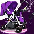 Carrinho de bebê pode sentar plana dobrável carrinho de criança carrinho de criança de carro do bebê BB portátil two-way