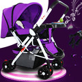 baby stroller can sit flat folding stroller BB portable baby child trolley car two-way