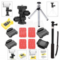 Acessórios de montagem fivela braço monopé kit para sony câmera ação hdr-as15 as50 as200v as100v as30v hdr-az1 mini fdr-x1000v as20