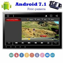 camera+Android 7.1 2 Din car cassette tape recorder Autoradio cd DVD Player HeadUnit Stereo GPS Navigation support /Bluetooth/FM