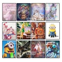New Cartoon Girl Full Round 5D DIY Diamond Painting Icon 3D Cross Stitch Crystal mosaic Decoration