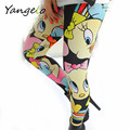 Summer Style 2016 New leggings Cute Cartoon Print Leggings Women's Fitness Legging Pants Sexy Slim Leggings Pants